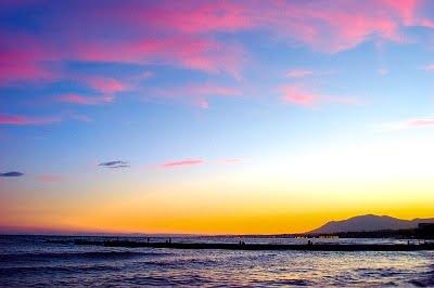 Playas de Marbella atardecer