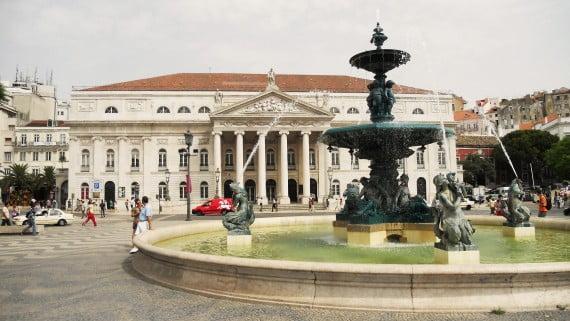 Plaza del Rossio, Lisboa, Portugal