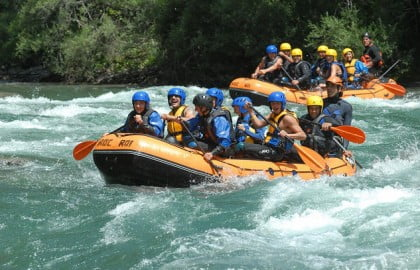 Practicar rafting Madrid