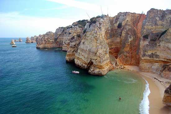 Praia Dona Ana en Portugal