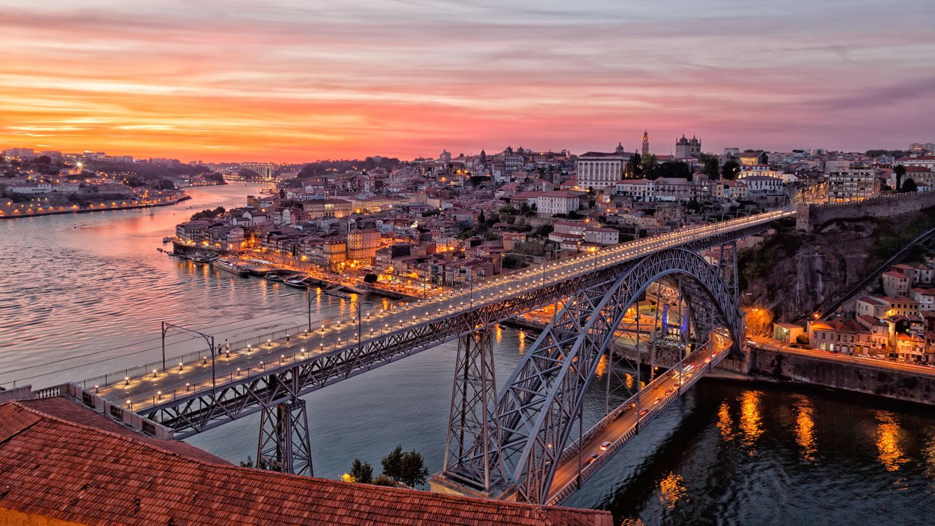 Puente De Luis I Oporto Portugal