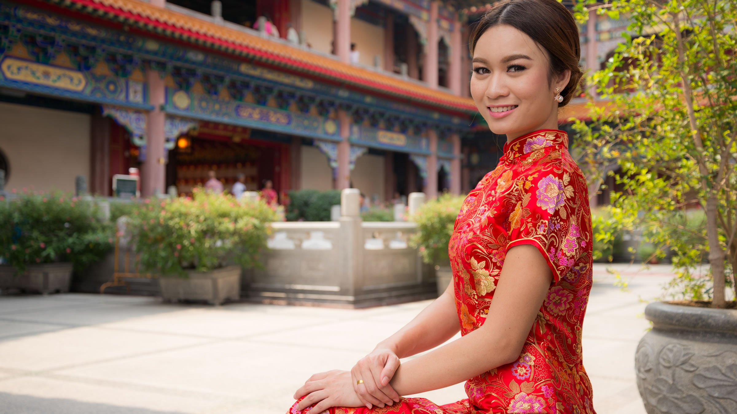 Qipao Traje Tradicional De La Mujer China
