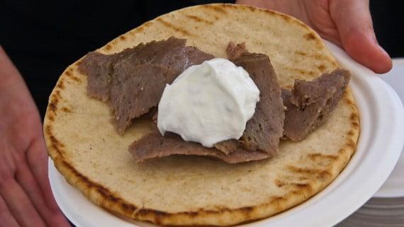 Preparar la carne para los gyros