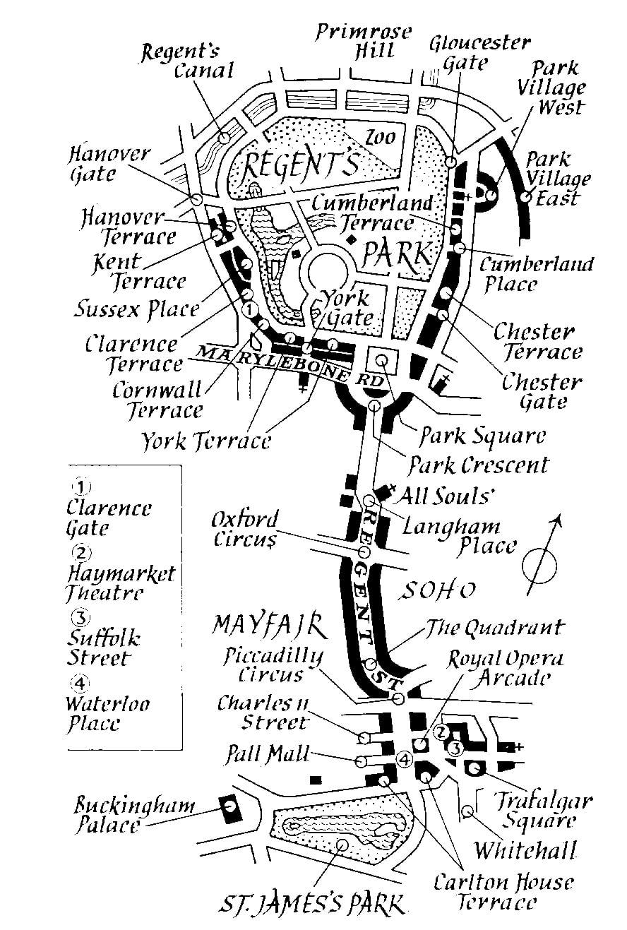Plano del Regent's Park