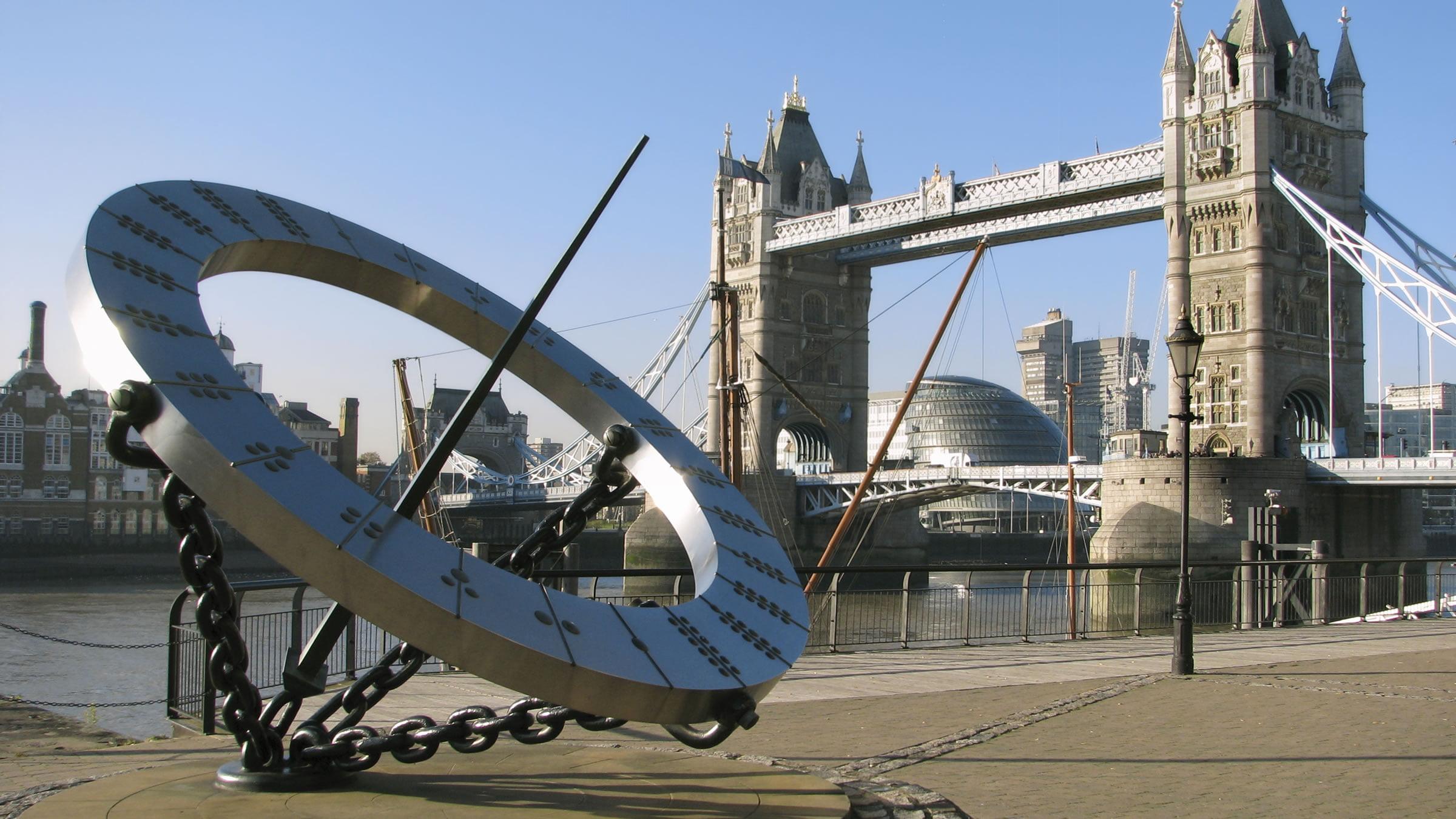 Reloj solar de Londres, Inglaterra, Reino Unido