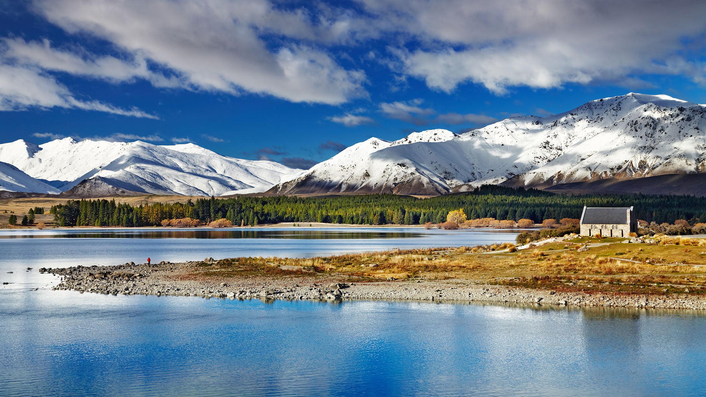 lago tekapo en la isla sur de nueva zelanda