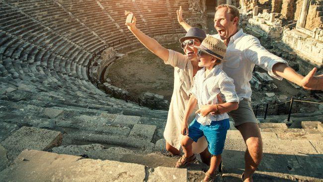 Visitar Italia en familia