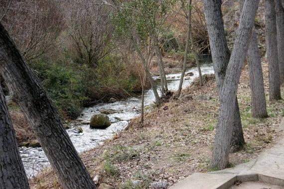 Rio Palancia justo antes del Salto de la Novia