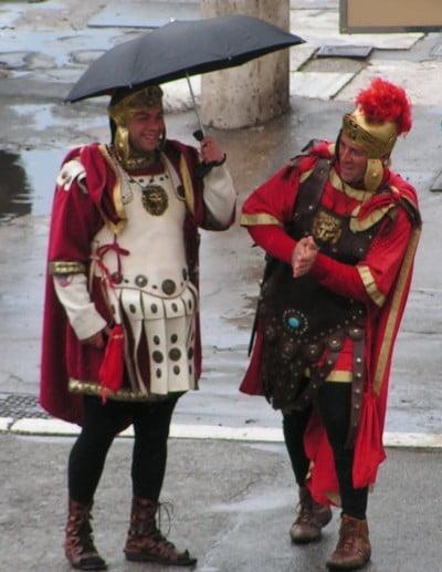 Gladiadores en la lluvia