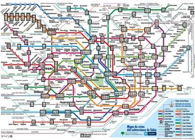 Rutas subterráneo de Tokio