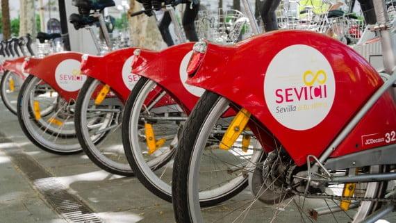 SEVIci, o servizo público de bicicletas de Sevilla
