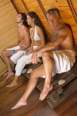 Sauna finlandesa relajandose