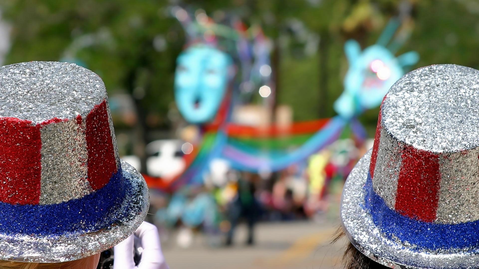 Sombrero de copa típico del Día de la Independencia de los EE.UU.