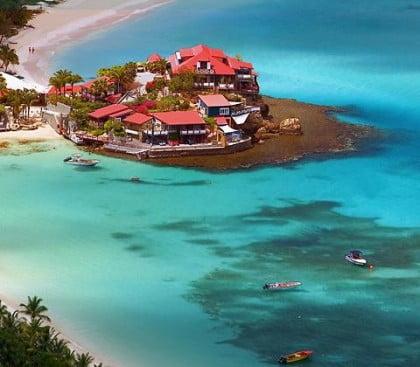 St. Barts en el Mar Caribe