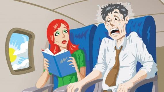 好気性恐怖症または飛行の恐怖の症状
