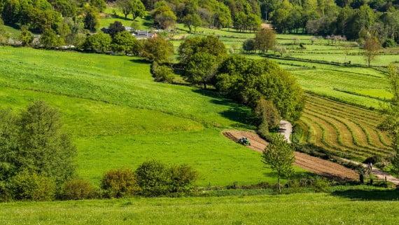Típico paisaje de Galicia, norte de España