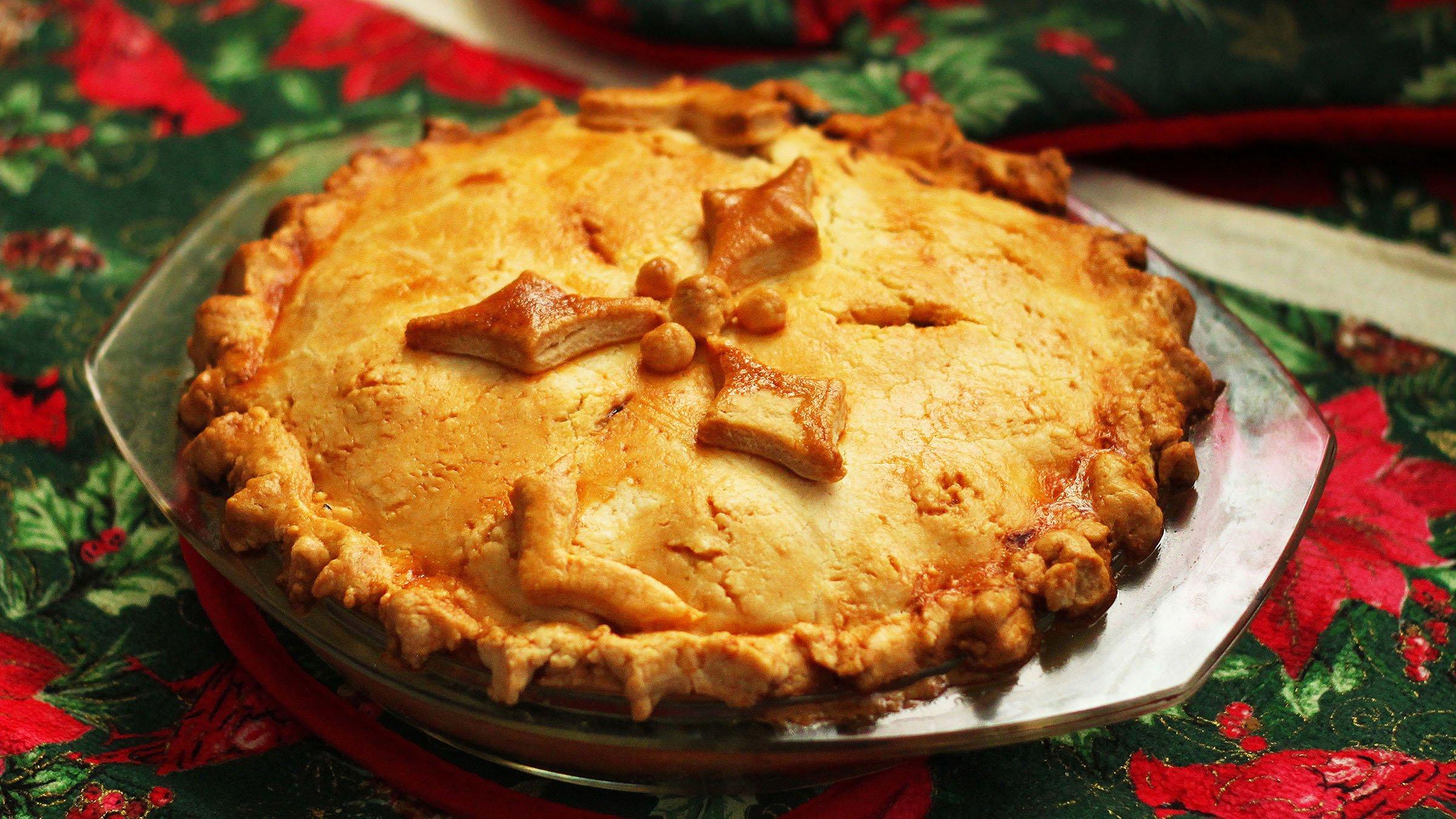 Tarta Canadiense Un Plato Típico En Navidad