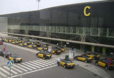 Taxis en el aeropuerto
