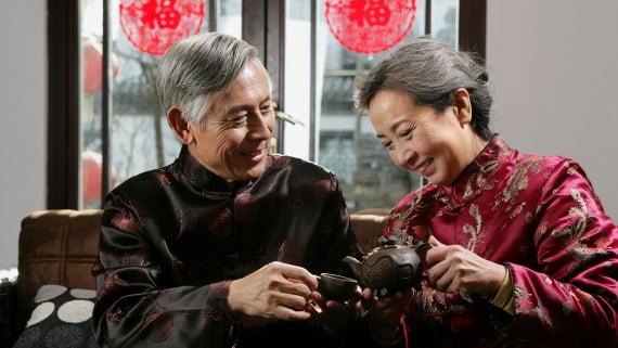 Tomar té en China