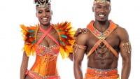 Traje de samba de hombre y mujer
