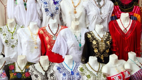 Yucatan typical costume: the huipil