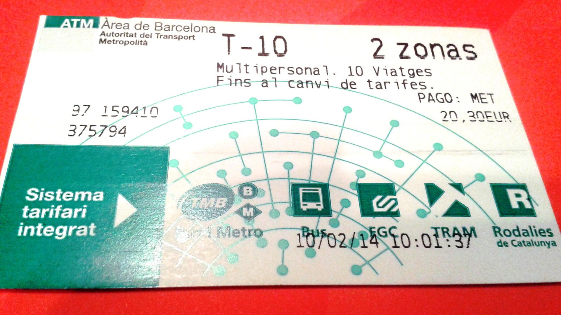 Plano de metro y trenes de Barcelona