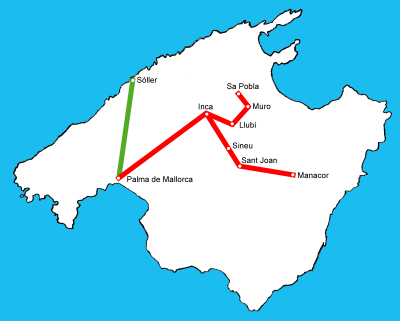 Plano de trenes de Mallorca