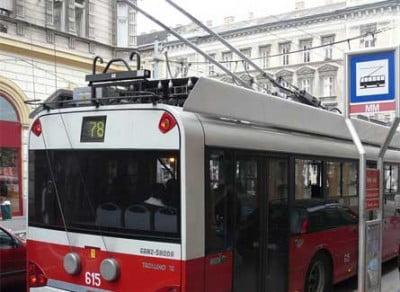 Trolebus en Budapest