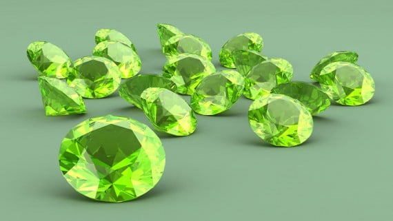 沙弗萊石或綠色石榴石