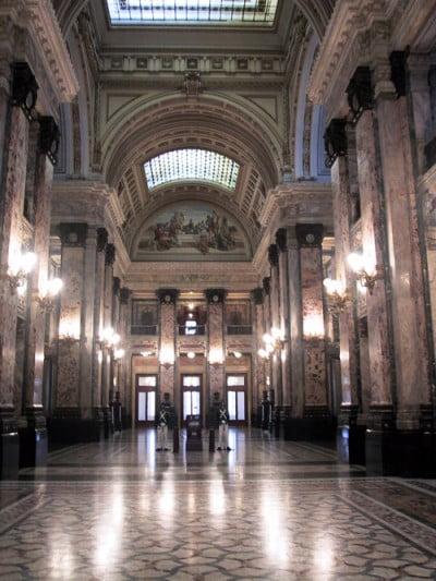 Turismo en Buenos Aires - Salon de los pasos perdidos - Congreso Nacional