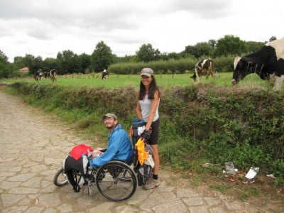 Vaque y Nieves en el Camino de Santiago