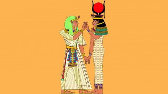 Vestimenta del Faraón y la Gran Esposa Real