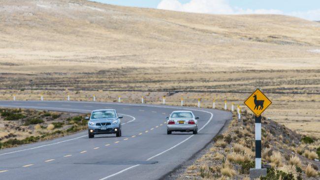 Circulando por las carreteras de Perú