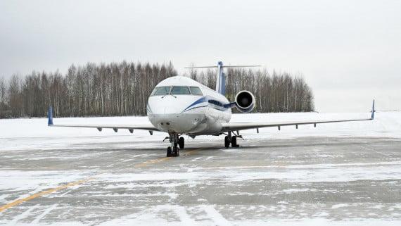 Viajar en avión en invierno