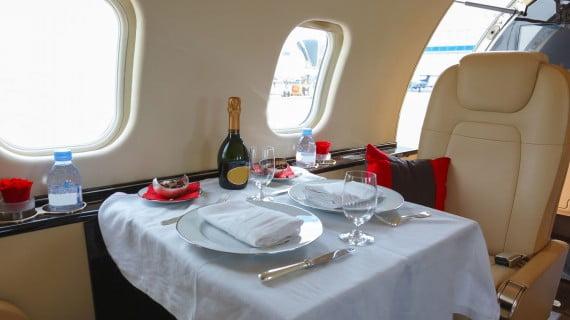 Viajar en un vuelo VIP