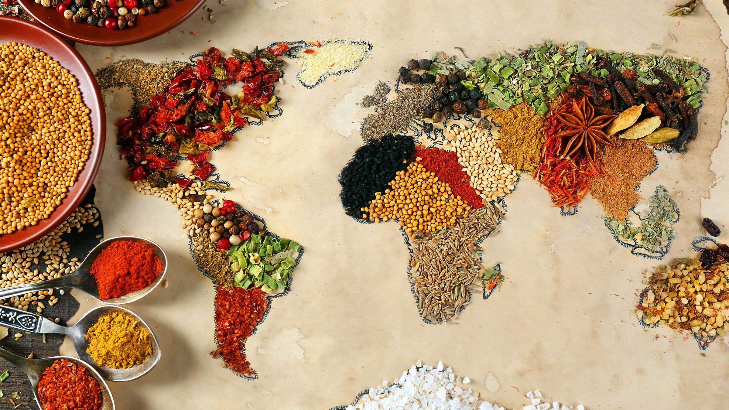 Viaje gastronómico por los cinco continentes