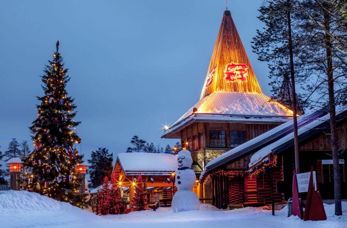 Villa de santa claus en rovaniemi finlandia