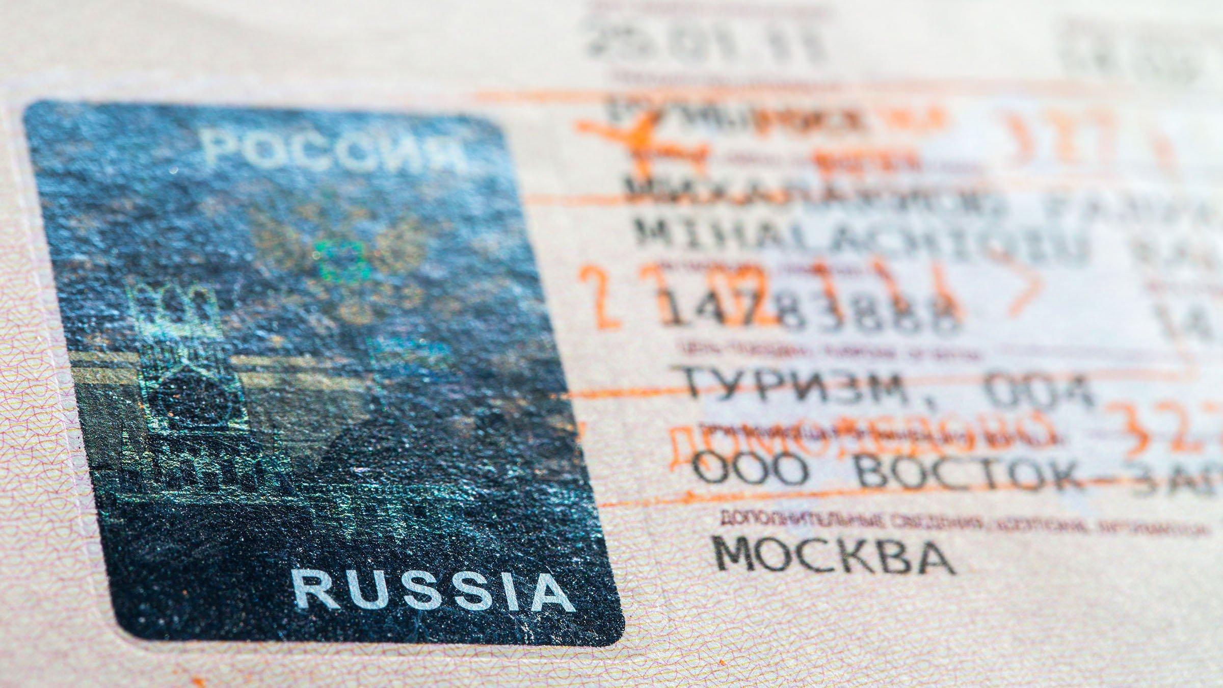 Visa para viajar a Rusia