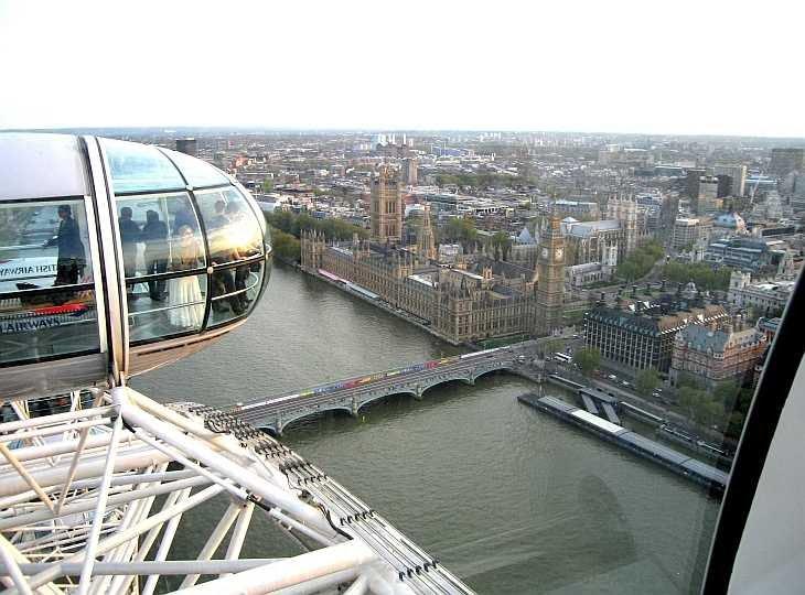 Vista desde el Ojo de Londres