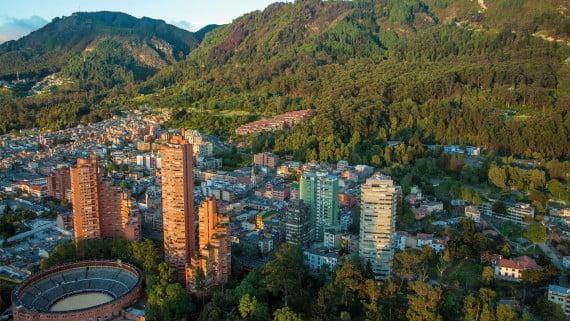 Bogotako (Kolonbia) aireko ikuspegia