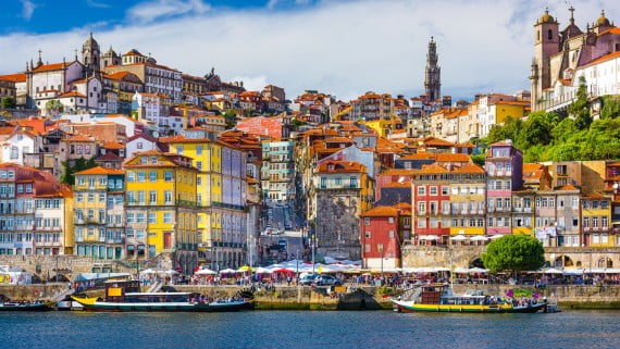 Vista aérea de Oporto