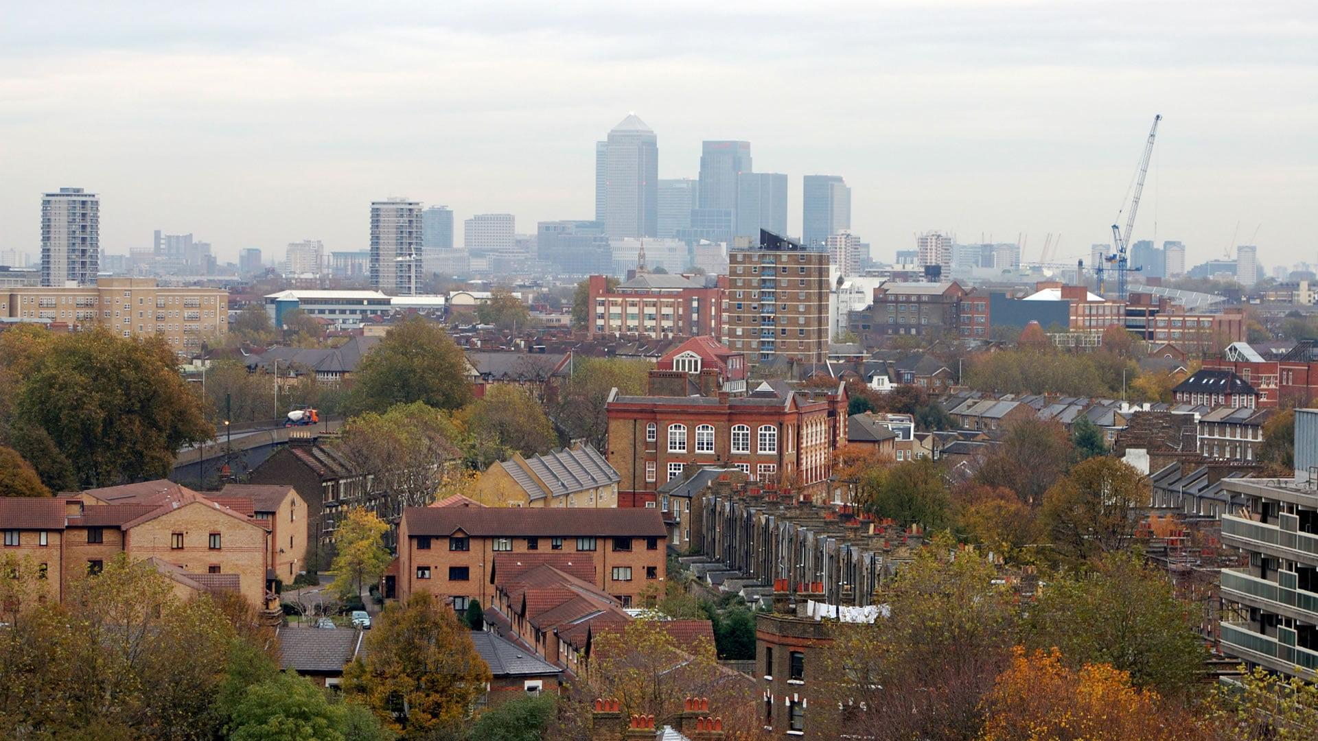 Vista aérea de la zona de Elephant and Castle, Londres