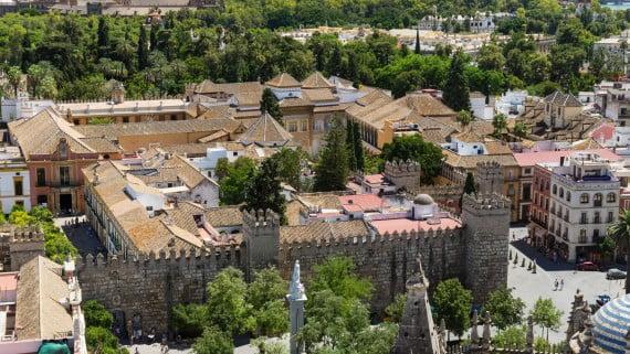 Vista aérea do Arquivo de Indias, Sevilla