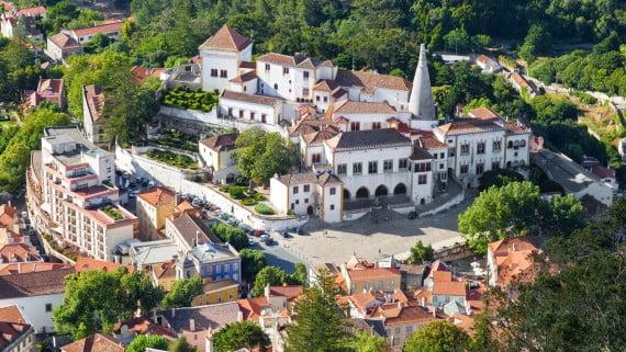 Vista aérea del municipio de Sintra, Portugal