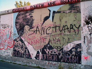 Vista actual de un graffiti de Muro
