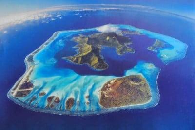 Vista aerea de las islas