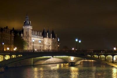 Vista del Sena de noche