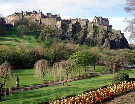 Vista desde abajo Castillo Edimburgo