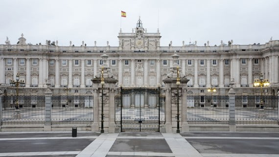 Vista frontal del Palacio Real de Madrid
