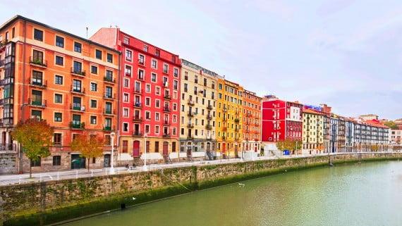 Vista panorámica de Bilbao, Vizcaya